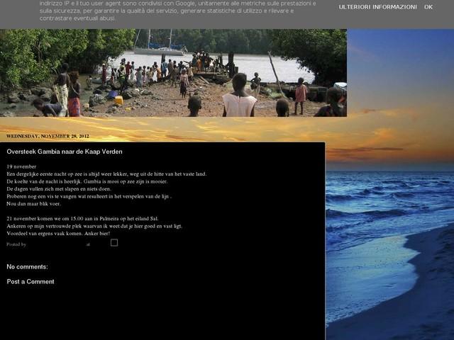 Oversteek Gambia naar de Kaap Verden