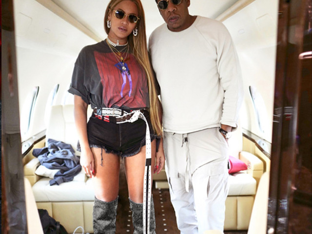 Beyonce Flaunts Her Post-Baby Bod On Private Jet With Hubby Jay-Z