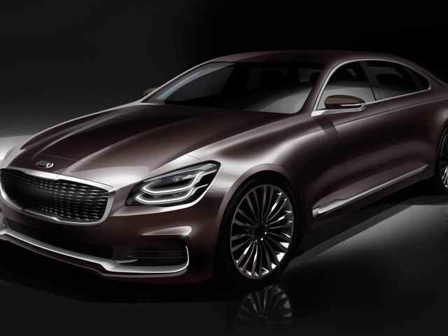 2019 Kia K900 teased in new sketches