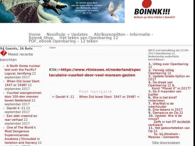 Vuurbal waargenomen door 100-den mensen boven Nederland