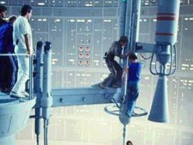Behind The Scenes - Star Wars: The Empire Strikes Back. The Cloud City Gantry Shot