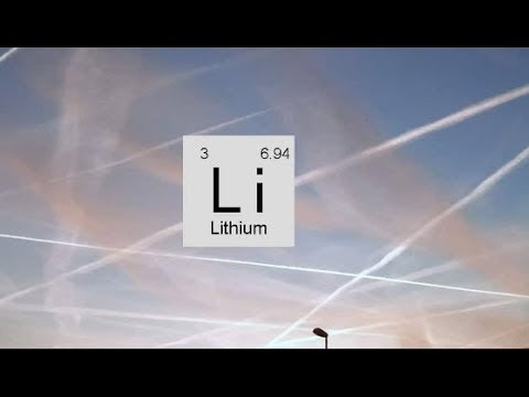 We are being sprayed W/ Lithium! Are You? Do you have lithium symptoms