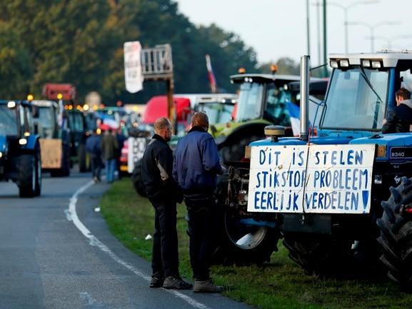 3000 trekkers van protesterende boeren onderweg naar Den Haag