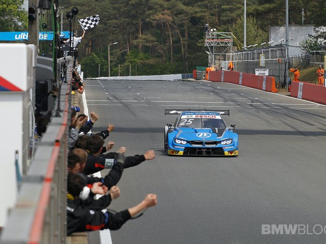 Philipp Eng celebrates his first DTM win in Belgium