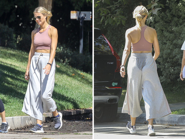 Gwyneth Paltrow Works Up A Sweat On A Hike