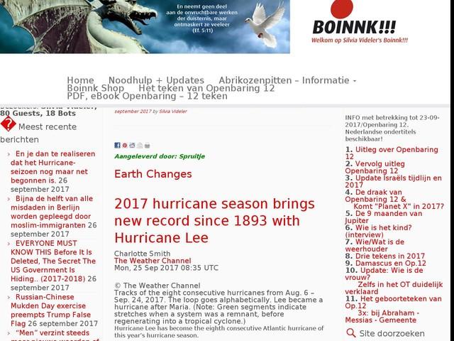 En je dan te realiseren dat het Hurricane-seizoen nog maar net begonnen is.