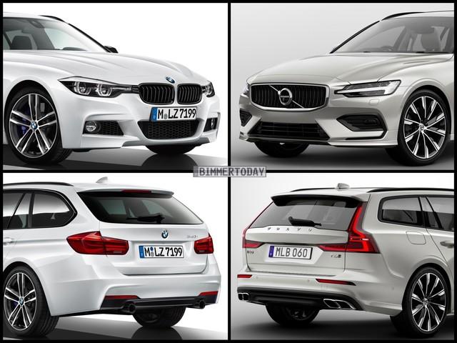 Photo Comparison: BMW 3 Series Touring vs Volvo V60
