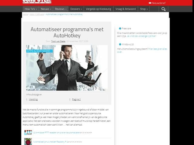 Automatiseer programma's met AutoHotkey