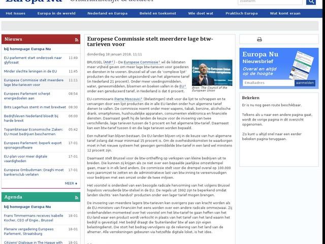Europese Commissie stelt meerdere lage btw-tarieven voor