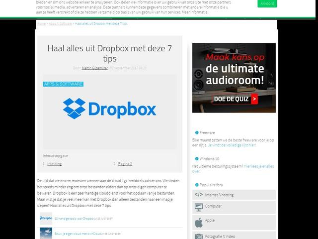 Haal alles uit Dropbox met deze 7 tips