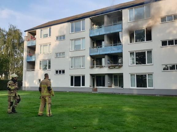 Appartementencomplex Enschede ontruimd na brand