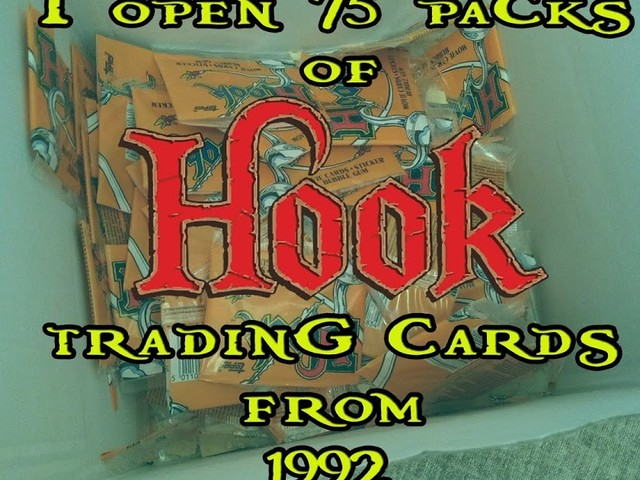 I open 75 Packs Of Hook Trading Cards From 1992.