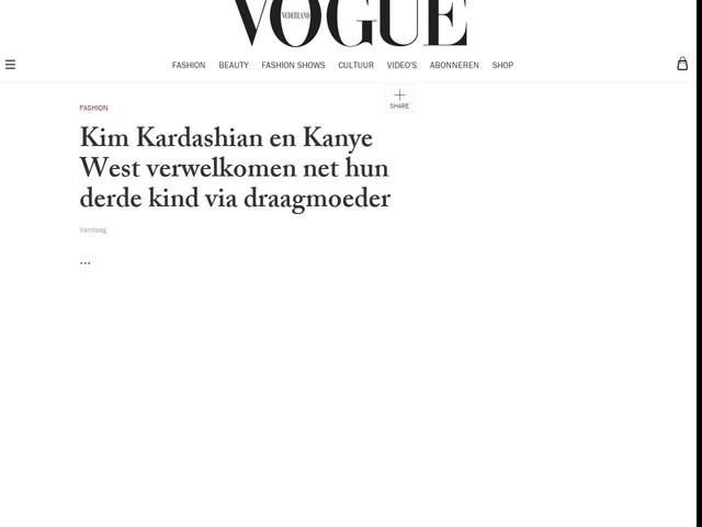 Kim Kardashian en Kanye West verwelkomen net hun derde kind via draagmoeder