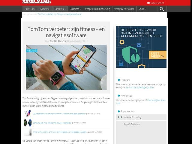 TomTom verbetert zijn fitness- en navigatiesoftware