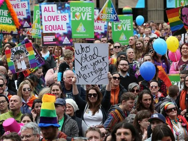 Demonstratie voor homohuwelijk