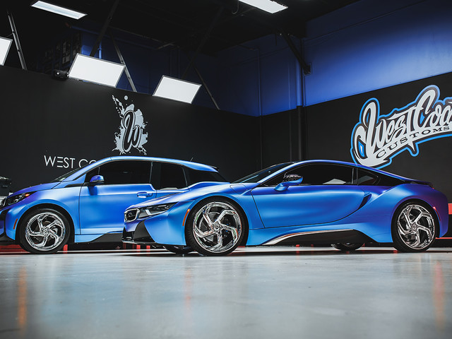 BMW i3 and BMW i8 Duo Get West Coast Customs Treatment