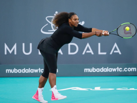 Serena ends baby break with a loss in Abu Dhabi exhibition