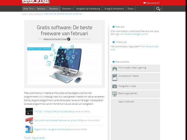 Gratis software: De beste freeware van februari