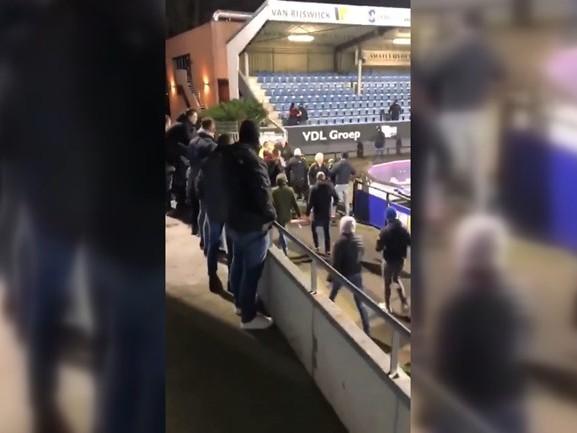 Rellen FC Eindhoven - Helmond Sport: óf dagvaarding óf boete voor elf supporters