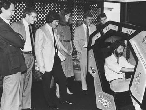 Photo of the Day - George Lucas Playing The Star Wars Arcade Machine