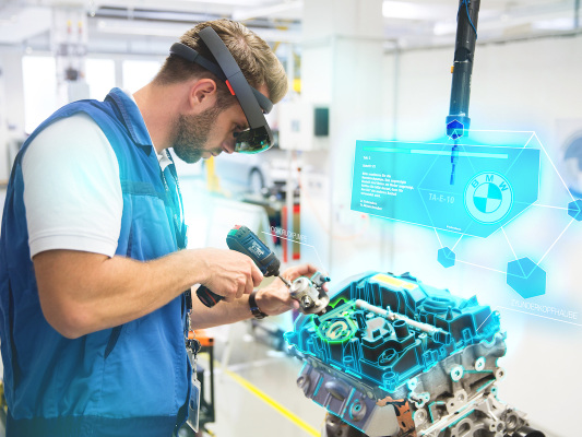 BMW Group Production leveraging virtual reality and augmented reality applications