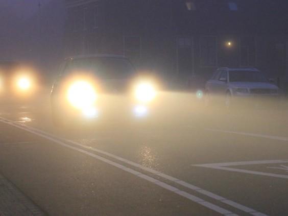 Pas op als je de weg op gaat, code geel voor mist