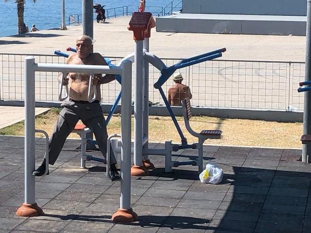 Als je in Griekenland wil sporten, ben je in de eerste plaats een gevaar voor jezelf en je medemens