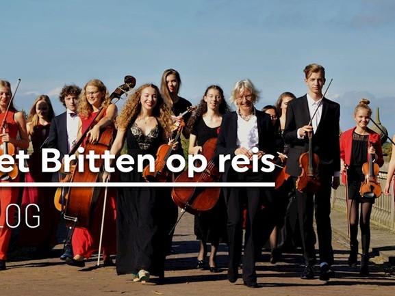 DAG 1. Het Britten Jeugdstrijkorkest op reis: cd-opnames en huiswerk maken in de auto