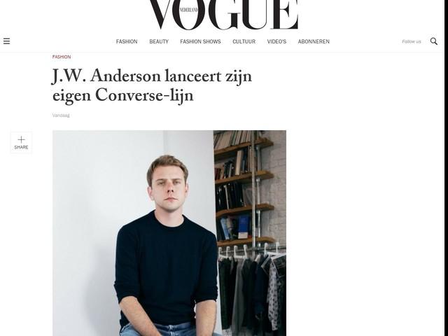J.W. Anderson lanceert zijn eigen Converse-lijn