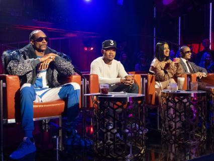 Rhythm + Flow: Snoop, Chance, Cardi, And T.I. Evaluate 3-Piece-Suit-Clad Rapper Saxon's Scholarly Bars [Video]
