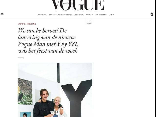 We can be heroes! De lancering van de nieuwe Vogue Man met Y by YSL was het feest van de week