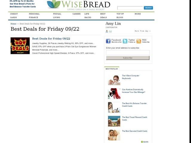 Best Deals for Friday 09/22