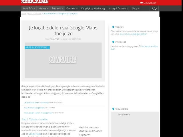 Je locatie delen via Google Maps doe je zo