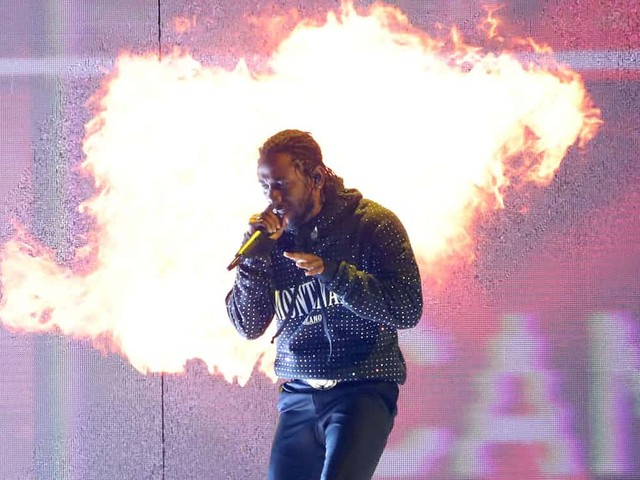 Kendrick Lamar & Rich The Kid Destroy A Car During BRIT Awards Performance