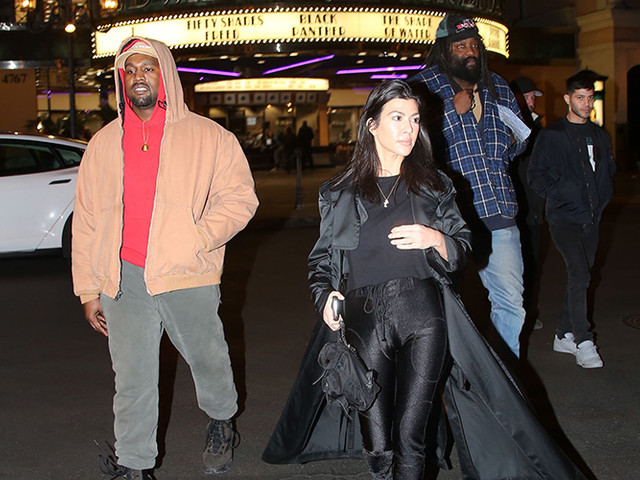 Kanye And Kourtney Go To See Black Panther