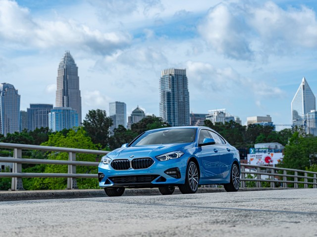 2020 BMW 228i Gran Coupe is featured in the Seaside Blue Metallic color