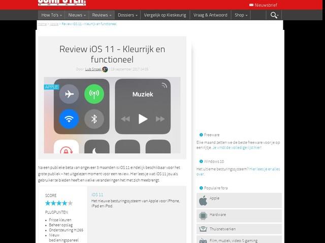 Review iOS 11 - Kleurrijk en functioneel