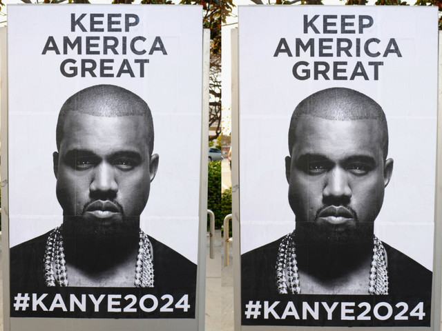 "Koonye West 2024: Kanye Kampaigns To ""Keep America Great"" And Is Signing Sunken ""Trump"" Autographs"