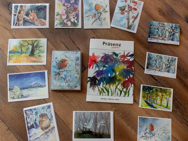 Neue Karten von unseren Aquarellen in dem Herbstprogramm 2020 des Präsenz Verlages