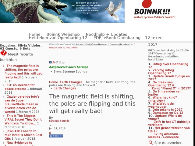 The magnetic field is shifting, the poles are flipping and this will get really bad!