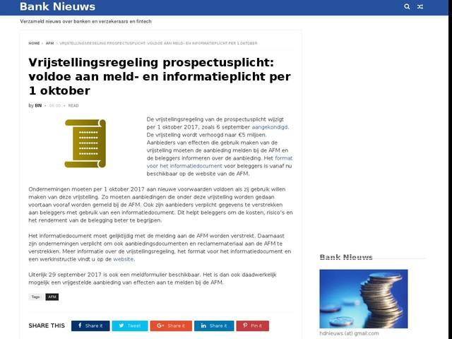 Vrijstellingsregeling prospectusplicht: voldoe aan meld- en informatieplicht per 1 oktober