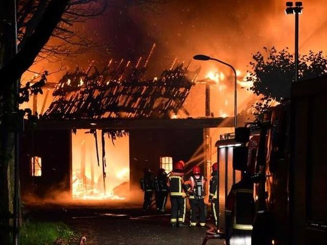 Asbest bij brand in aardappelschuur Groningen