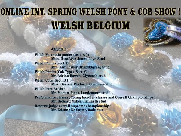 Welsh Belgium – Online International Spring Show