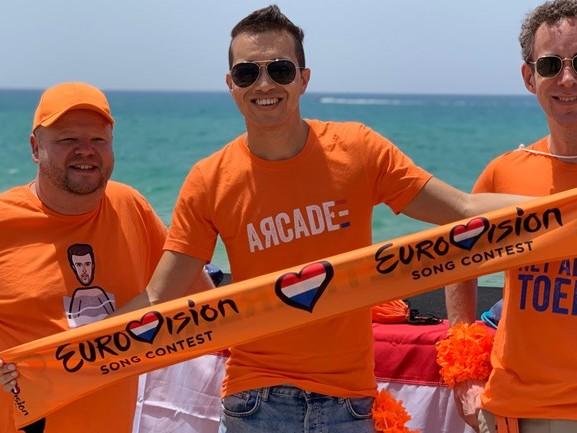 Brabantse songfestivalfans in Tel Aviv krijgen nog steeds kippenvel van 'Arcade'
