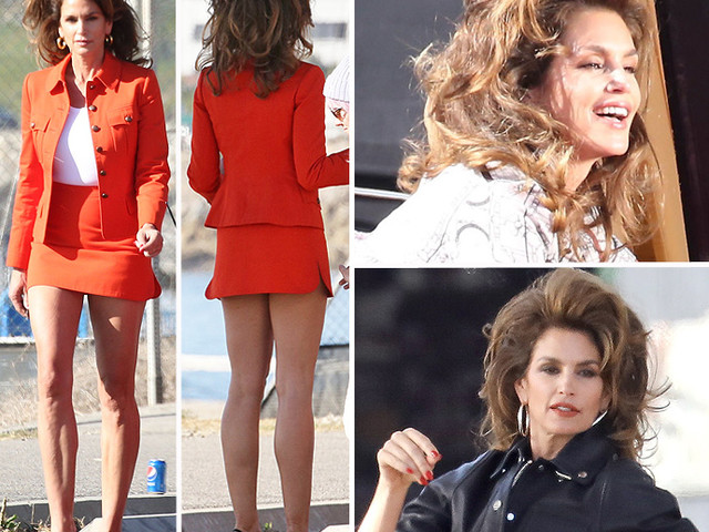 EXCLUSIVE PHOTOS - Cindy Crawford Stuns In Retro Photo Shoot Mimicking Her Iconic Looks