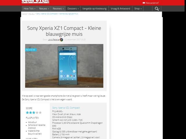 Sony Xperia XZ1 Compact - Kleine blauwgrijze muis