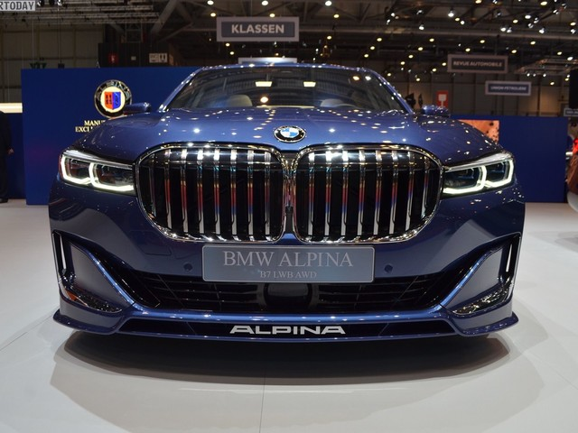 Geneva 2019: Live photos of ALPINA B7 facelift in blue color