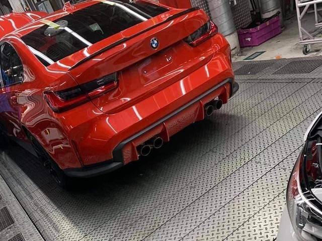 LEAKED: The rear-end of the BMW M3 G80