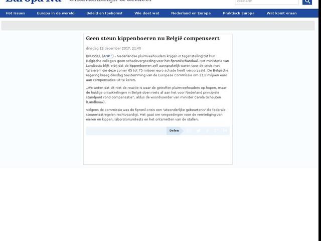 Geen steun kippenboeren nu België compenseert