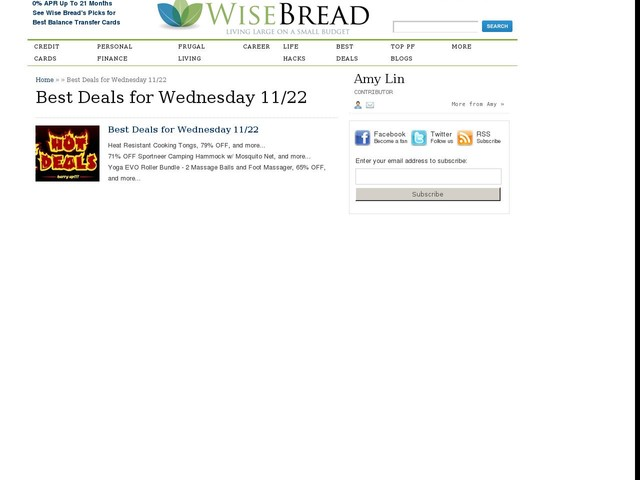 Best Deals for Wednesday 11/22